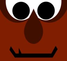 Silly Little Dark Red Monster Sticker