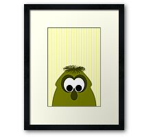 Silly Little Dark Yellow Monster Framed Print