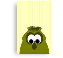 Silly Little Dark Yellow Monster Canvas Print