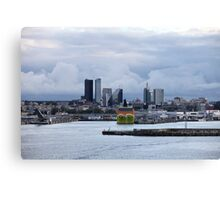 Tallinn port Canvas Print
