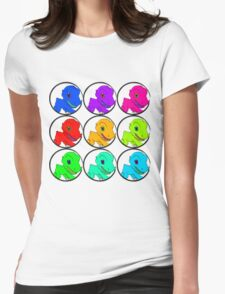 Agumon going multi-colors Womens Fitted T-Shirt