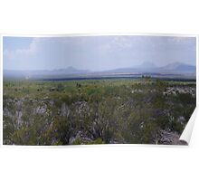 Panther Junction to Marathon - Through the Plains - Big Bend National Park in June Poster