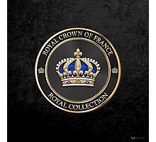 Royal Collection - Royal Crown of France Black Velvet Photographic Print