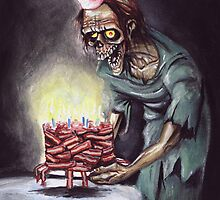 Zombie Bacon Birthday Card by Humerus