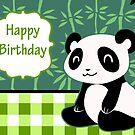 """Happy Birthday"" Cute Panda by SaradaBoru"