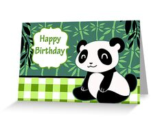 """Happy Birthday"" Cute Panda Greeting Card"