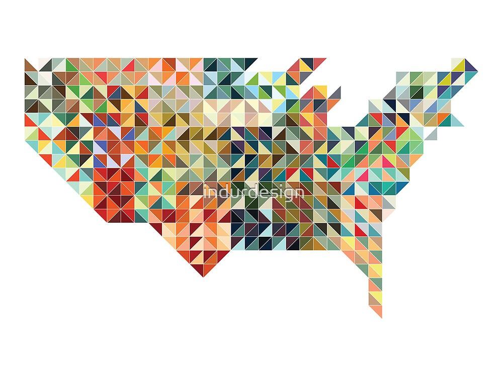 United States Geometric by indurdesign