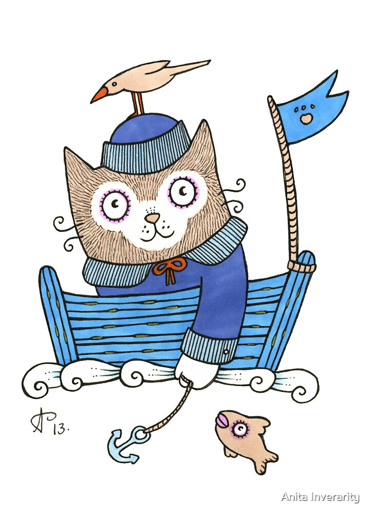 Sailor Kitty by Anita Inverarity