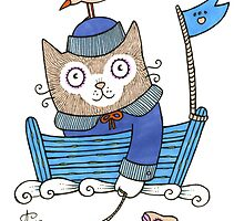 Sailor Kitty by Anita Inverarity
