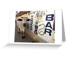 Hookah Cow Greeting Card
