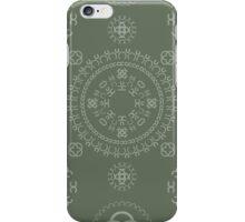 Monogram pattern (C) in Deep Lichen iPhone Case/Skin
