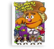 Willy Wocka and the Muppet Factory Canvas Print