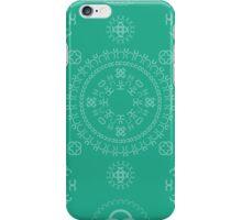Monogram pattern (C) in Emerald iPhone Case/Skin