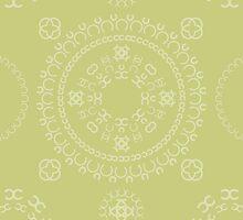 Monogram pattern (C) in Lichen by janna barrett