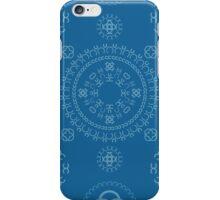 Monogram pattern (C) in Mykonos iPhone Case/Skin