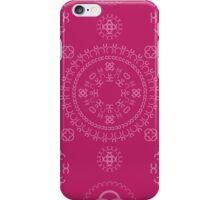 Monogram pattern (C) in Vivacious iPhone Case/Skin