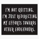 Not Quitting by Grimwood
