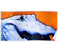 Gator Art - Swampy by Sharon Cummings Poster