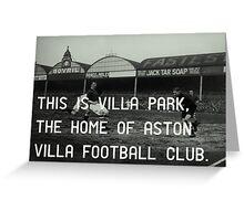 Aston Villa Football Club Greeting Card