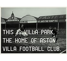 Aston Villa Football Club Photographic Print