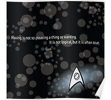 Spock Quote Poster