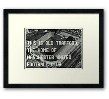 Manchester United Soccer Club Framed Print