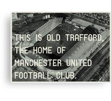 Manchester United Soccer Club Canvas Print