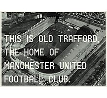 Manchester United Soccer Club Photographic Print