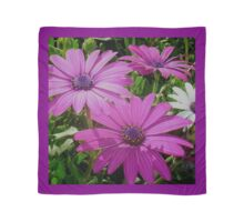 Purple And Pink Tropical Daisy Flower Scarf