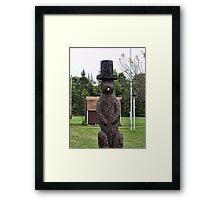 Groundhog statue Framed Print