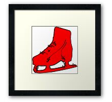 ice skate flourish Framed Print