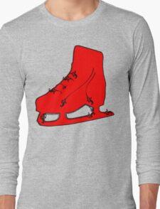 ice skate flourish Long Sleeve T-Shirt
