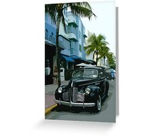 Vintage Miami Greeting Card