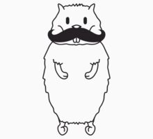 Cute Mustache Hamster by Style-O-Mat