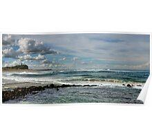 Nobby's Beach Panorama - Newcastle NSW Australia Poster