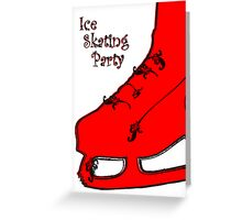 ice skating party Greeting Card