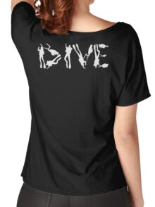 DIVE WITH DIVERS IN WHITE Women's Relaxed Fit T-Shirt