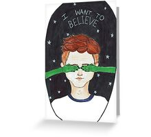 X-files fan art Greeting Card