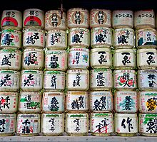 Sake Barrels  by Robert Meyers-Lussier