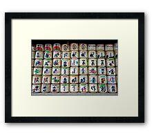 Sake Barrels  Framed Print