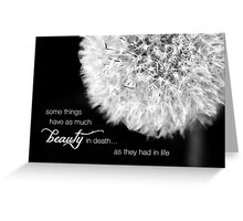 Dandelion – Beauty in Death – 2:3  Greeting Card