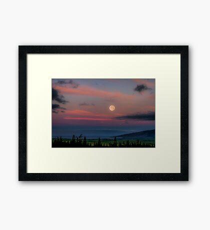 Super Moon Set 6/24/13 Framed Print