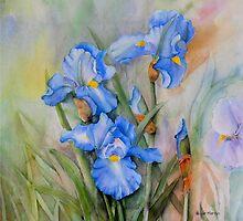 Blue Iris By Nicole Barros by Nicole Barros
