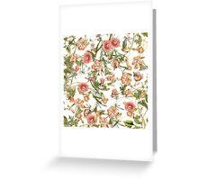 Pink Bloom Collage Greeting Card