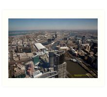 Scenic View from Melbourne's Southbank, Victoria Australia Art Print