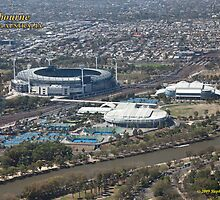 MCG, Rod Laver Arena and Hisense Arena by SNPenfold