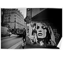 Parisienne Grunge Poster