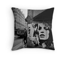 Parisienne Grunge Throw Pillow