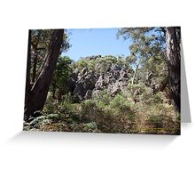 Volcanic Rock Formation, Hanging Rock, Victoria Australia Greeting Card