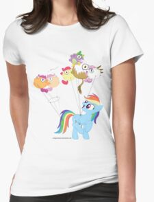 Balloon dash Womens Fitted T-Shirt